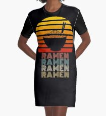Ramen Life Japanische Nudeln Lover Vintage Retro Style T-Shirt Kleid