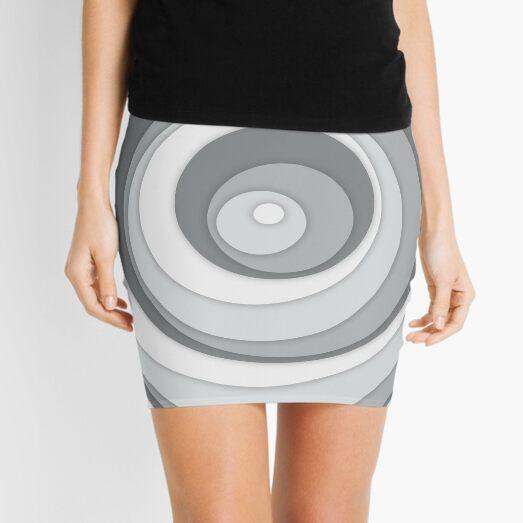 Nested Dots - White Mini Skirt