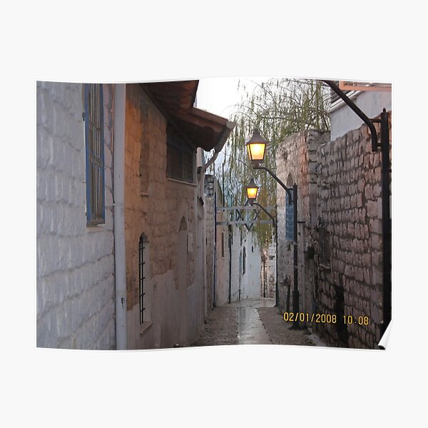 #architecture, #street, #outdoors, #house, #lantern, #old, #narrow, #alley Poster