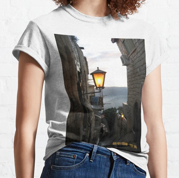 Outdoor Security Lighting, Outdoor Lighting, #lantern, #architecture, #outdoors, #illuminated, #old, #narrow, #dark, #sky, #Outdoor #Security #Lighting, #OutdoorLighting, #SecurityLighting Classic T-Shirt