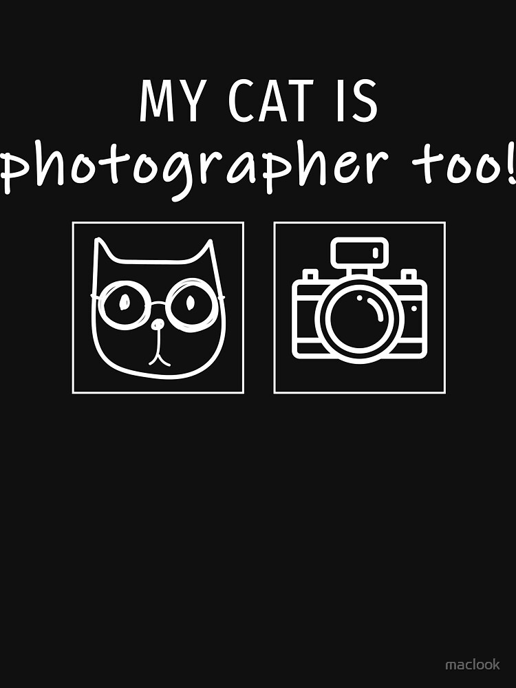 My cat is  photographer too! by maclook