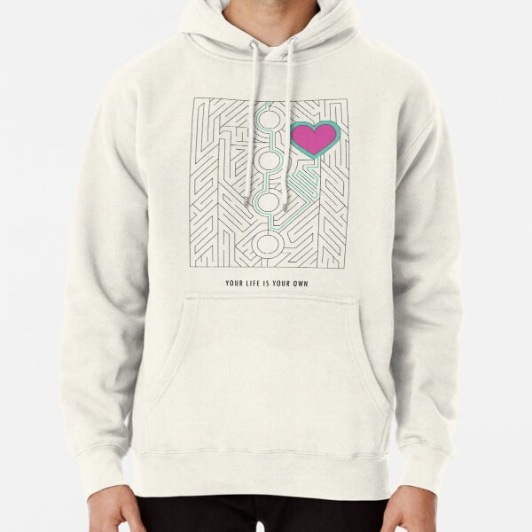Your Life is Your Own (Heart Maze)   Mob Psycho 100 Inspired Pullover Hoodie