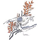 MorbidiTea - Licorice with Fanged Deer Skull by MicaelaDawn