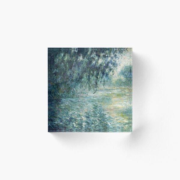 Morning on the Seine, Claude Monet Acrylic Block