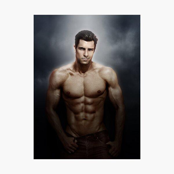Male model Chris - Soft focus Photographic Print