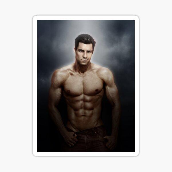Chris modelo masculino - enfoque suave Pegatina