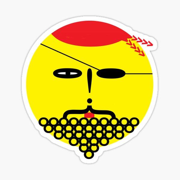 Mr Wingding ~ Black Beard Sticker