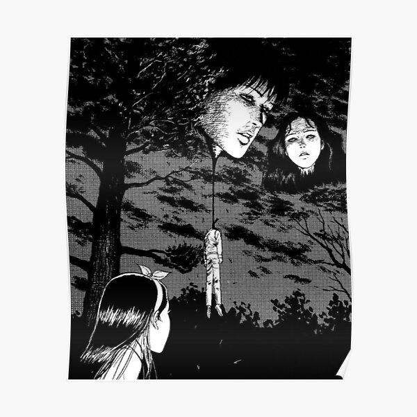 Junji Ito -  Floating heads Poster