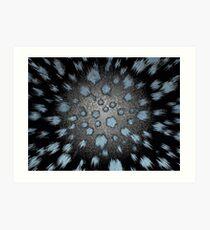 blueblack burst Art Print