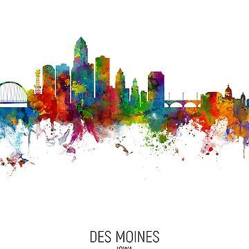 Des Moines Iowa Skyline by ArtPrints