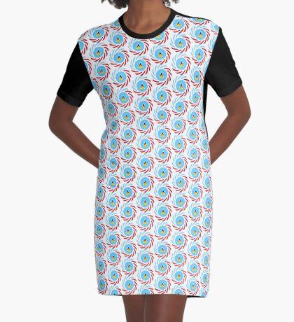 Saint Lucian American Multinational Patriot Flag Series Graphic T-Shirt Dress