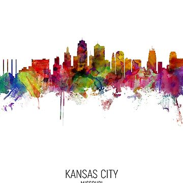 Kansas City Missouri Skyline by ArtPrints