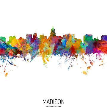 Madison Wisconsin Skyline by ArtPrints
