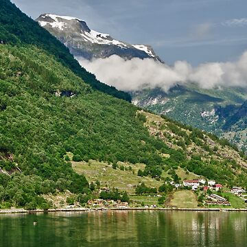 At the Foot of the Mist-Wreathed Peaks, Geiranger, Norway by gerdagrice