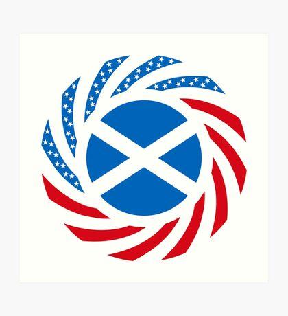 Scottish American Multinational Patriot Flag Series Art Print