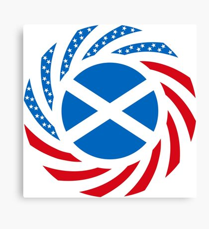 Scottish American Multinational Patriot Flag Series Canvas Print