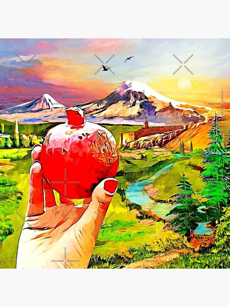 Armenian pomegranate  by doniainart