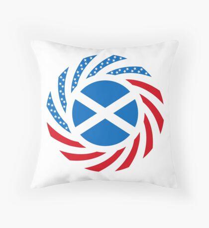 Scottish American Multinational Patriot Flag Series Throw Pillow
