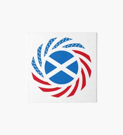 Scottish American Multinational Patriot Flag Series Art Board Print