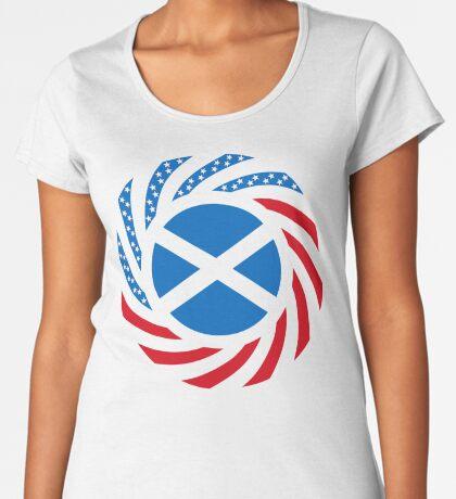Scottish American Multinational Patriot Flag Series Premium Scoop T-Shirt
