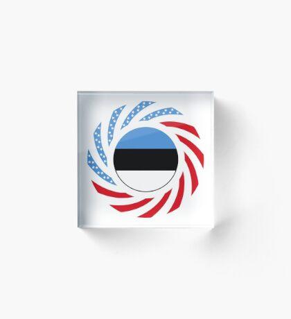Estonian American Multinational Patriot Flag Series Acrylic Block