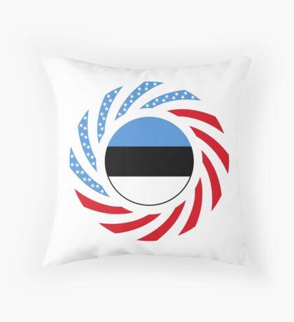 Estonian American Multinational Patriot Flag Series Throw Pillow