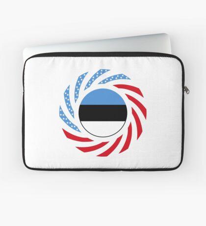 Estonian American Multinational Patriot Flag Series Laptop Sleeve