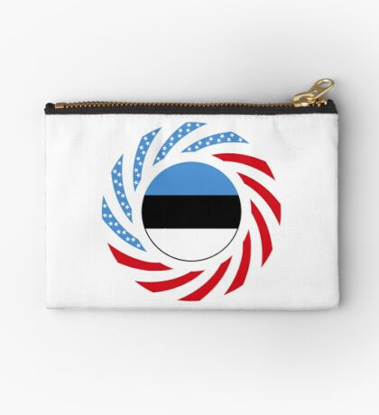 Estonian American Multinational Patriot Flag Series Zipper Pouch