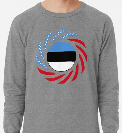 Estonian American Multinational Patriot Flag Series Lightweight Sweatshirt