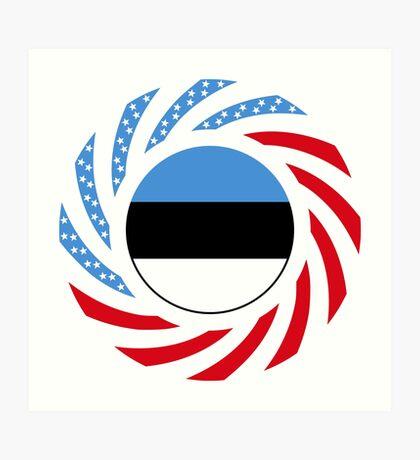 Estonian American Multinational Patriot Flag Series Art Print