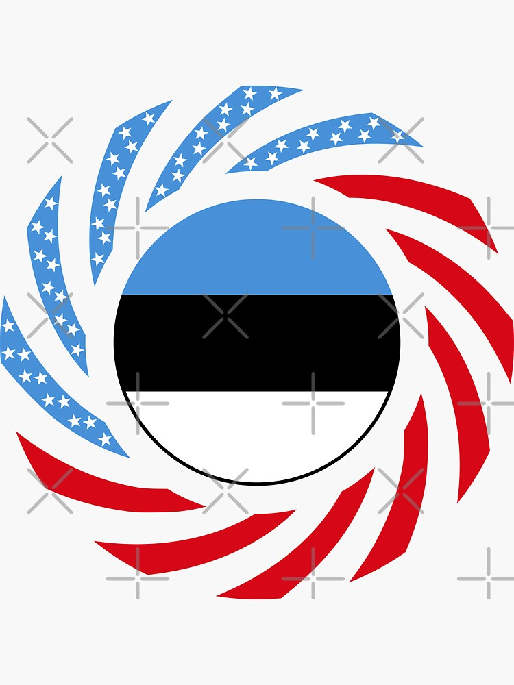 Estonian American Multinational Patriot Flag Series by carbonfibreme