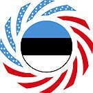 Estonian American Multinational Patriot Flag Series by Carbon-Fibre Media