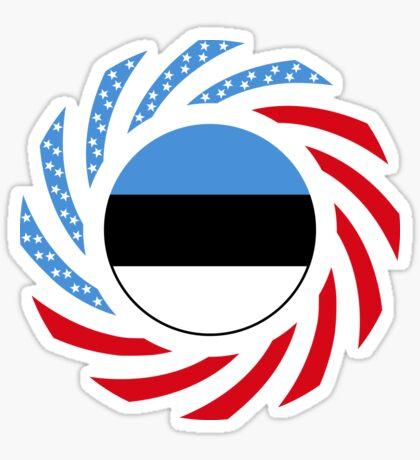 Estonian American Multinational Patriot Flag Series Sticker