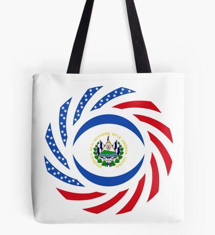 Salvadoran American Multinational Patriot Flag Series Tote Bag