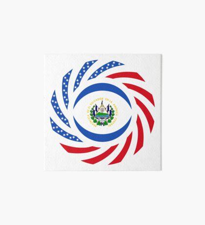 Salvadoran American Multinational Patriot Flag Series Art Board Print