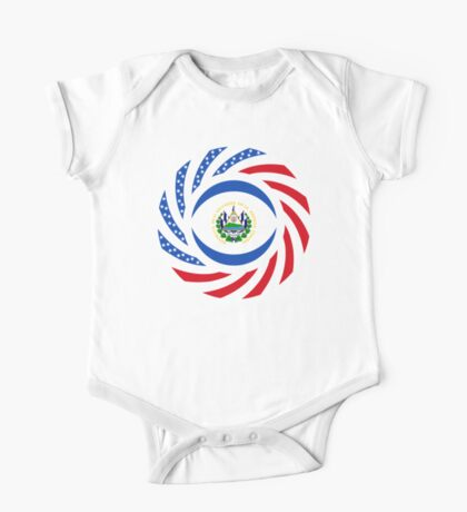Salvadoran American Multinational Patriot Flag Series Kids Clothes