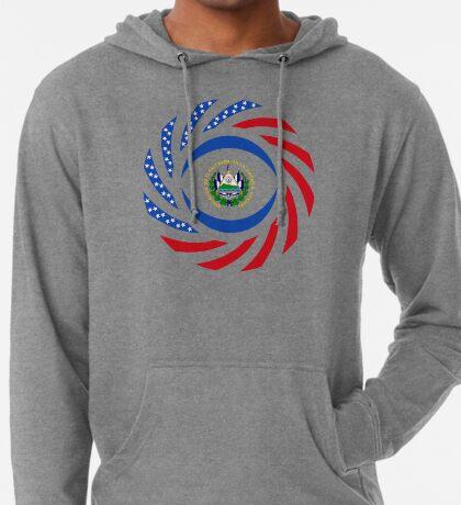 Salvadoran American Multinational Patriot Flag Series Lightweight Hoodie