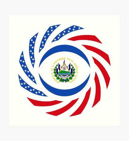 Salvadoran American Multinational Patriot Flag Series Art Print