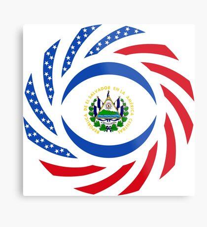 Salvadoran American Multinational Patriot Flag Series Metal Print