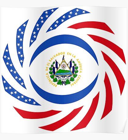 Salvadoran American Multinational Patriot Flag Series Poster