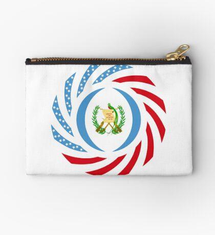 Guatemalan American Multinational Patriot Flag Series Zipper Pouch