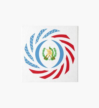Guatemalan American Multinational Patriot Flag Series Art Board Print