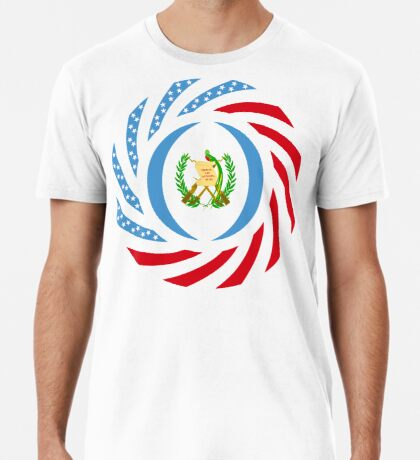 Guatemalan American Multinational Patriot Flag Series Premium T-Shirt