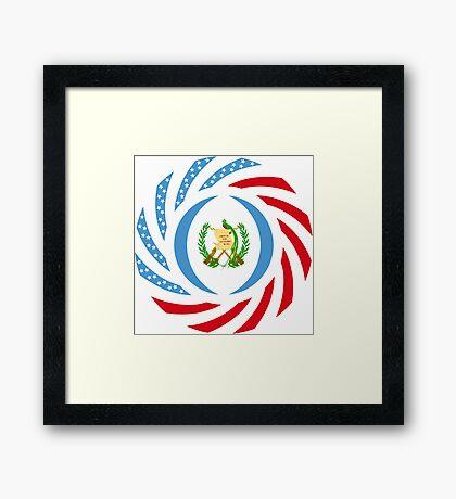 Guatemalan American Multinational Patriot Flag Series Framed Print