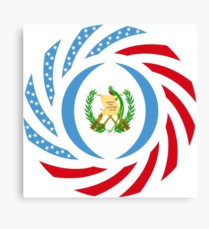 Guatemalan American Multinational Patriot Flag Series Canvas Print