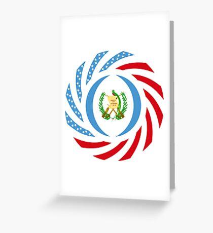 Guatemalan American Multinational Patriot Flag Series Greeting Card