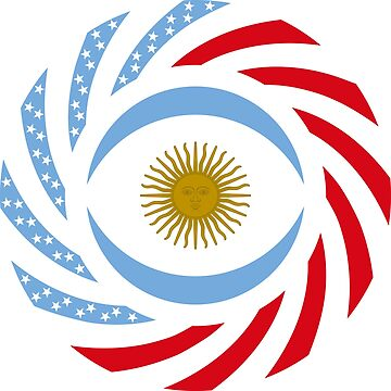 Argentinian American Multinational Patriot Flag Series by carbonfibreme