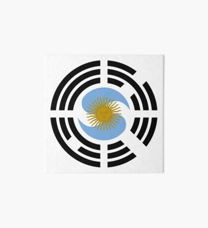 Korea Argentinian Multinational Patriot Flag Series Art Board Print