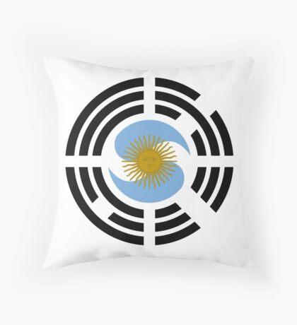 Korea Argentinian Multinational Patriot Flag Series Throw Pillow