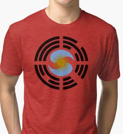 Korea Argentinian Multinational Patriot Flag Series Tri-blend T-Shirt